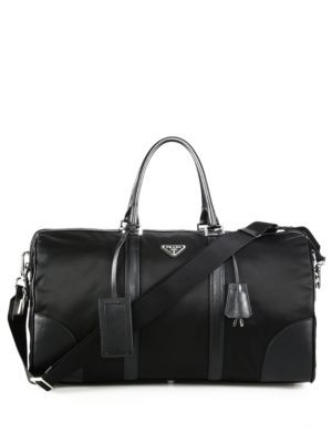 PRADA Nylon   Saffiano Leather Duffel.  prada  bags  shoulder bags  hand  bags  nylon  leather   c94dd7bdc1170