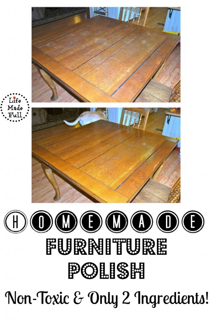 Homemade Furniture Polish Another Simple How To Do It Yourself