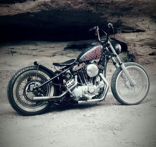 Garage Built Chopper By Kenny Bowman Bobber Motorcycle Cool