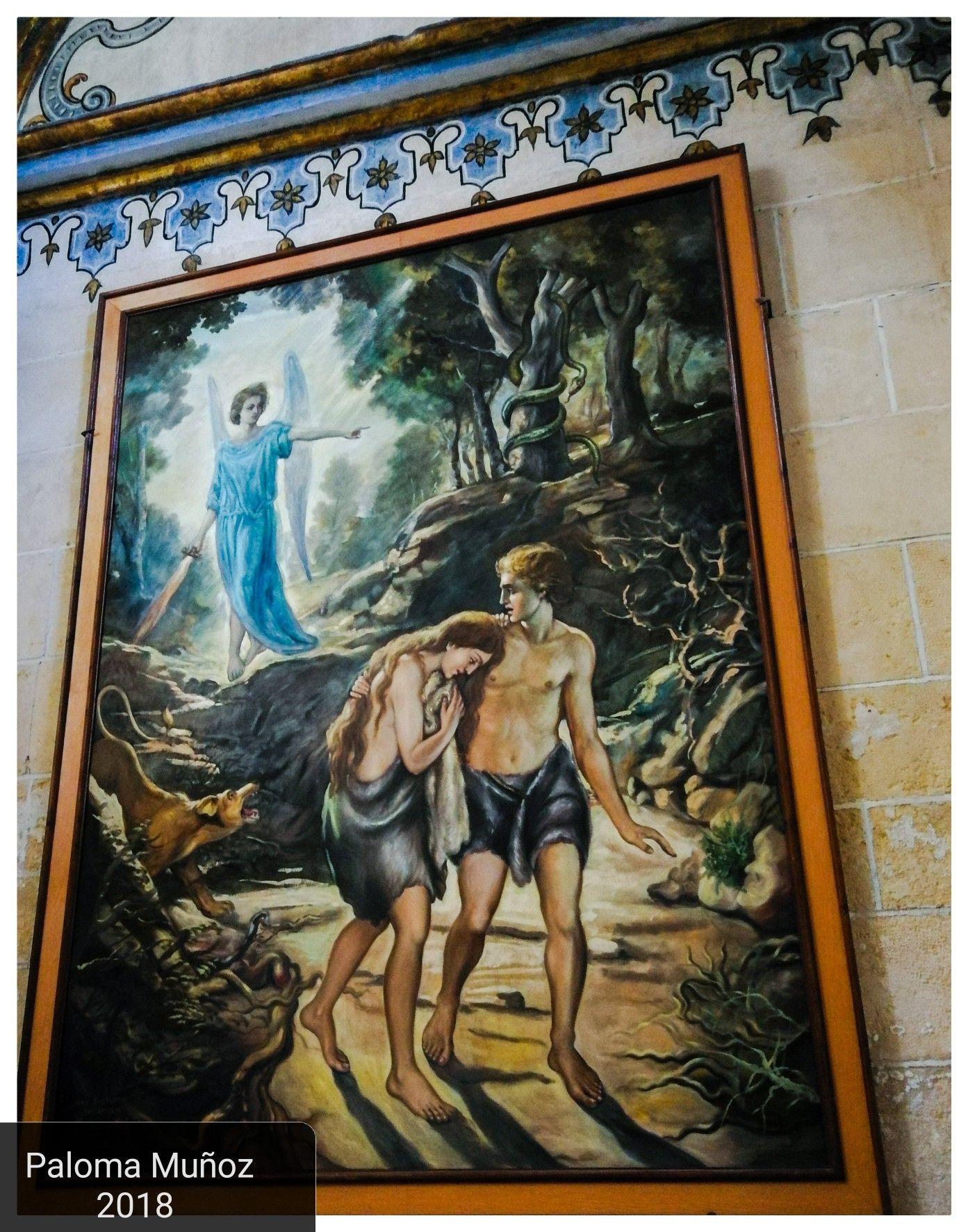 Pintura En La Iglesia De San Patricio En Lorca La Expulsion De Adan Y Eva Del Paraiso Murcia Painting Of The Adam And Eve Out Of Pinturas Dibujos Adan Y Eva