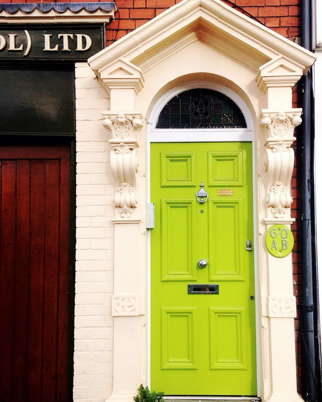 Love this lime green door I found in the suburbs in Bristol & Beautiful Bristol: Colourful Bristol Doors   Bristol