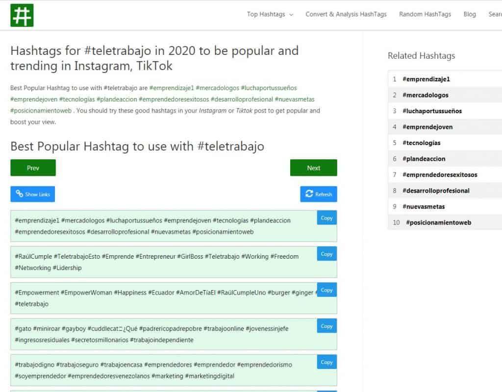 Teletrabajo Seohashtag 7 Instagram Top Hashtags Popular