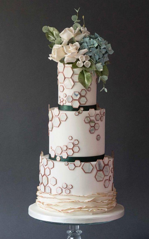 Modern Wedding Cake Fondant Torten Fondant Cakes Pinterest