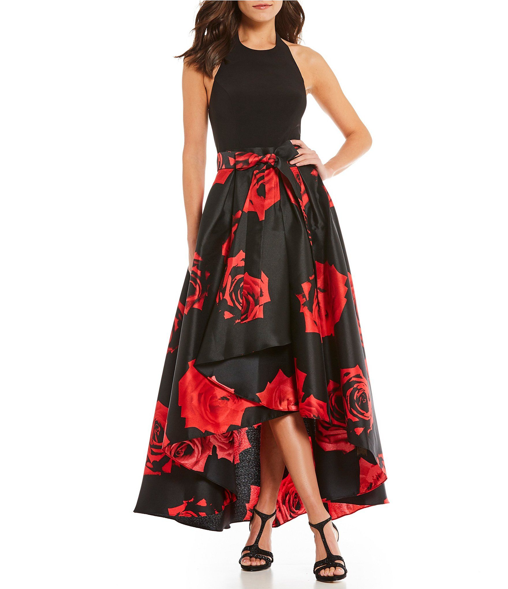 Ignite Evenings FloralPrint Mikado HiLow Dress #Dillards | clothes ...
