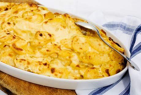 potatisgratäng på kokt kall potatis