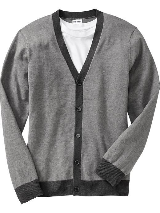 Old Navy Mens Button-Front Contrasting Cardigans | Things to Wear ...
