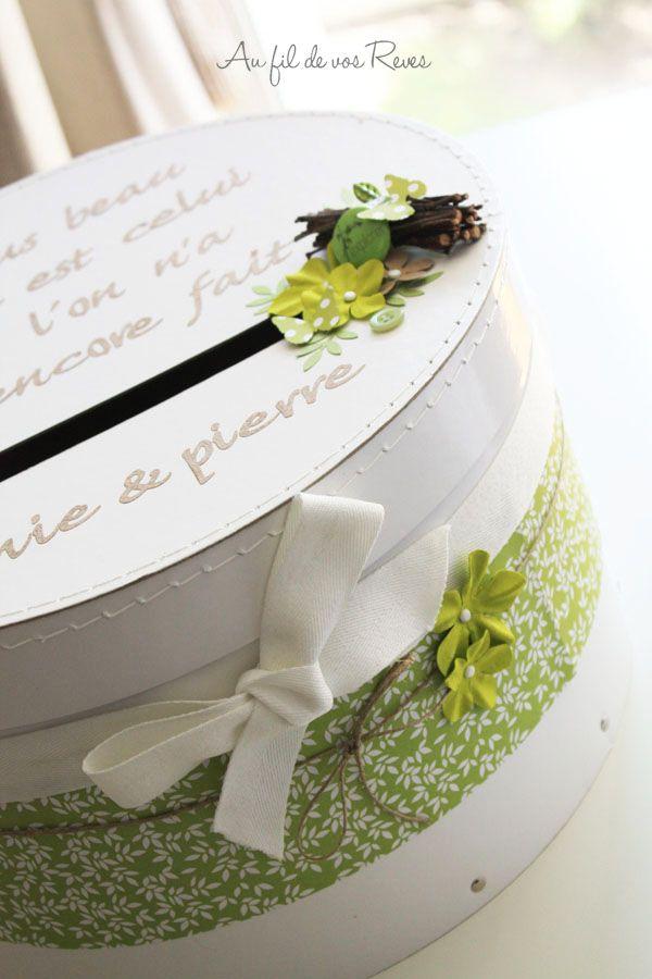 Au fil de vos Reves - urne boite à chapeau | Urne mariage, Boite mariage et Idées de mariage