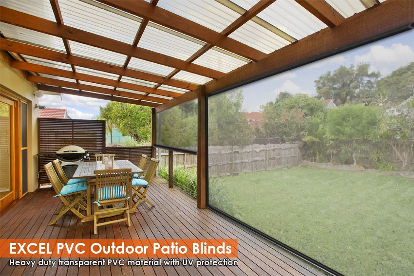 240cm X 240cm Heavy Duty Pvc Clear Patio Cafe Blinds