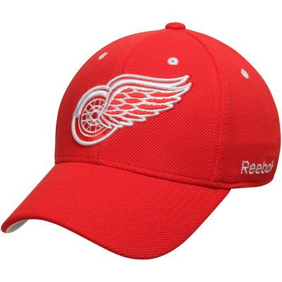 99ed3c7782c Detroit Red Wings Reebok Face-Off Team Structured Flex Hat - Red ...