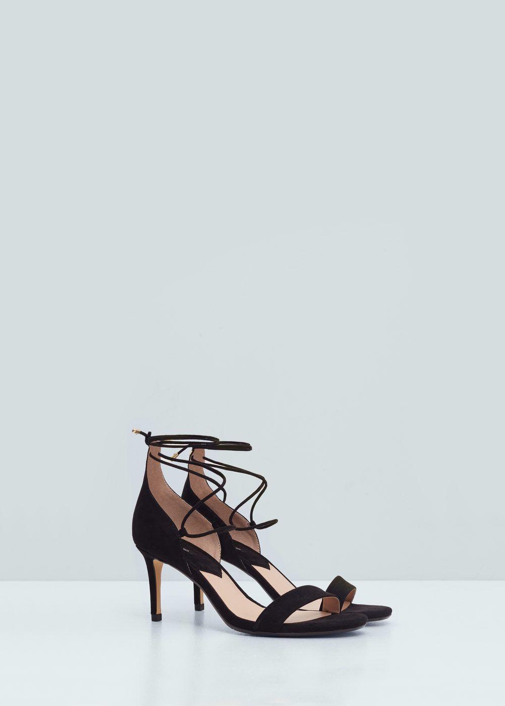 94ce7162 Sandalia atada tacón - Mujer | mango verano 2016 | Zapatos mujer ...