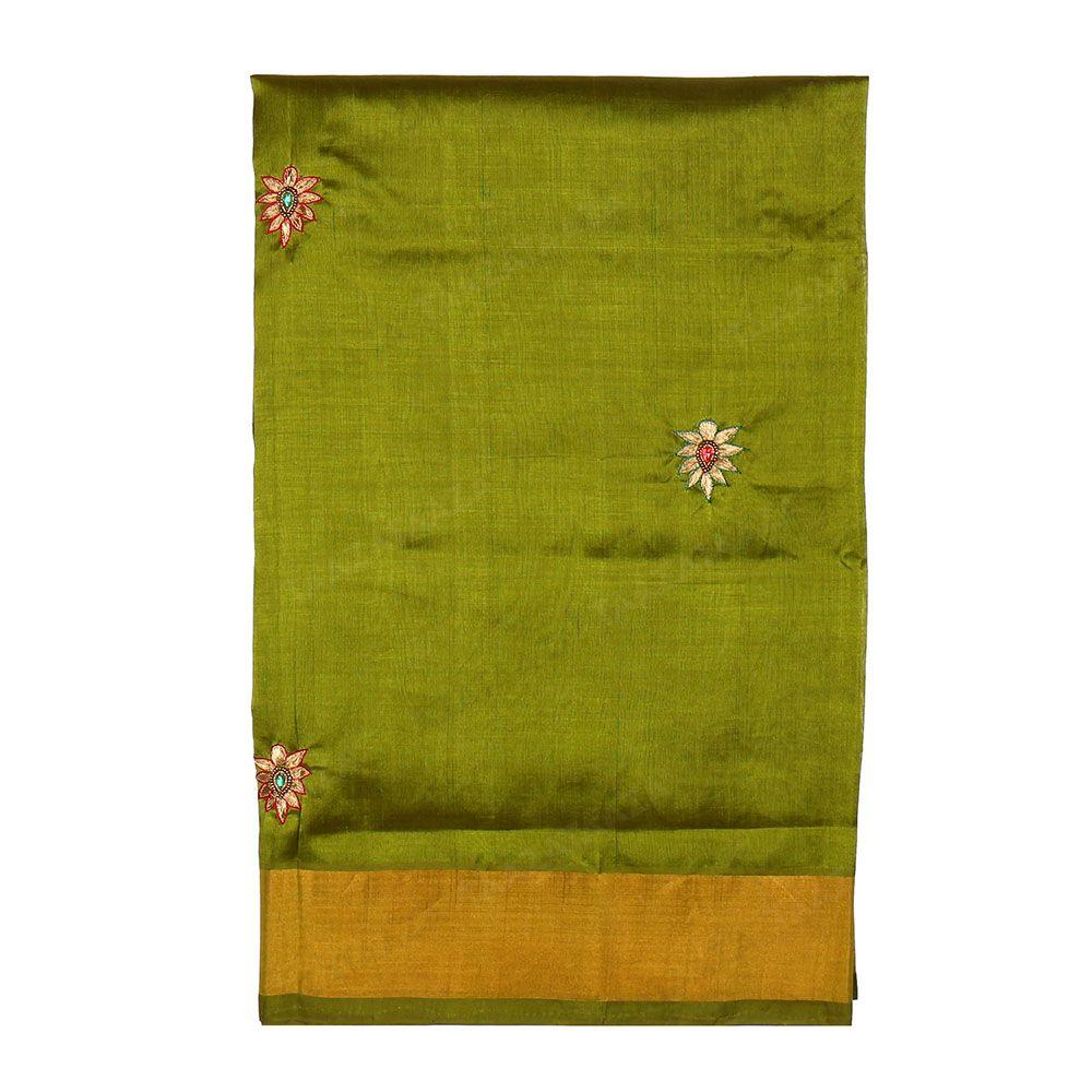 e609102408 Uppada Pure Handloom Soft Silk Saree Silk Pallu 6.5 Mts Blouse Included -  taazataaza.com