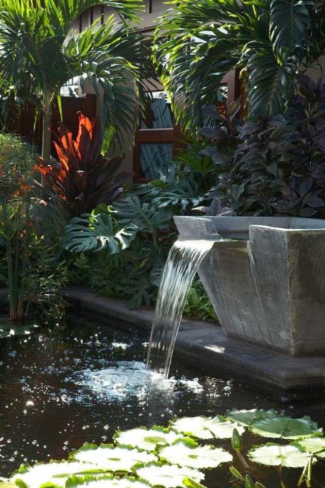 Brunnen Im Garten Wasserfall Selber Bauen Naturstein