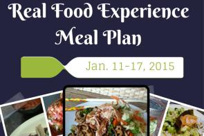 Real Food Experience Meal Plan Week 2