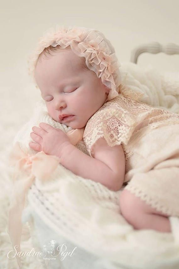 Nude baby girl lace romper photo prop 8a5a1ca7e0ad