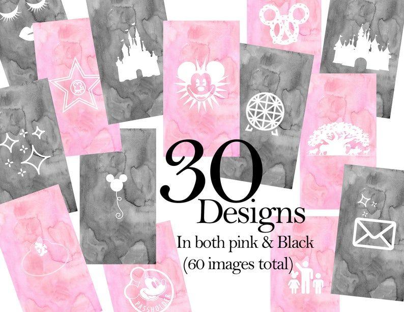 Instagram Highlights Icons Pink Organic Pattern Disney Blogger or Park Go-er Disney Instagram Story Highlight Covers