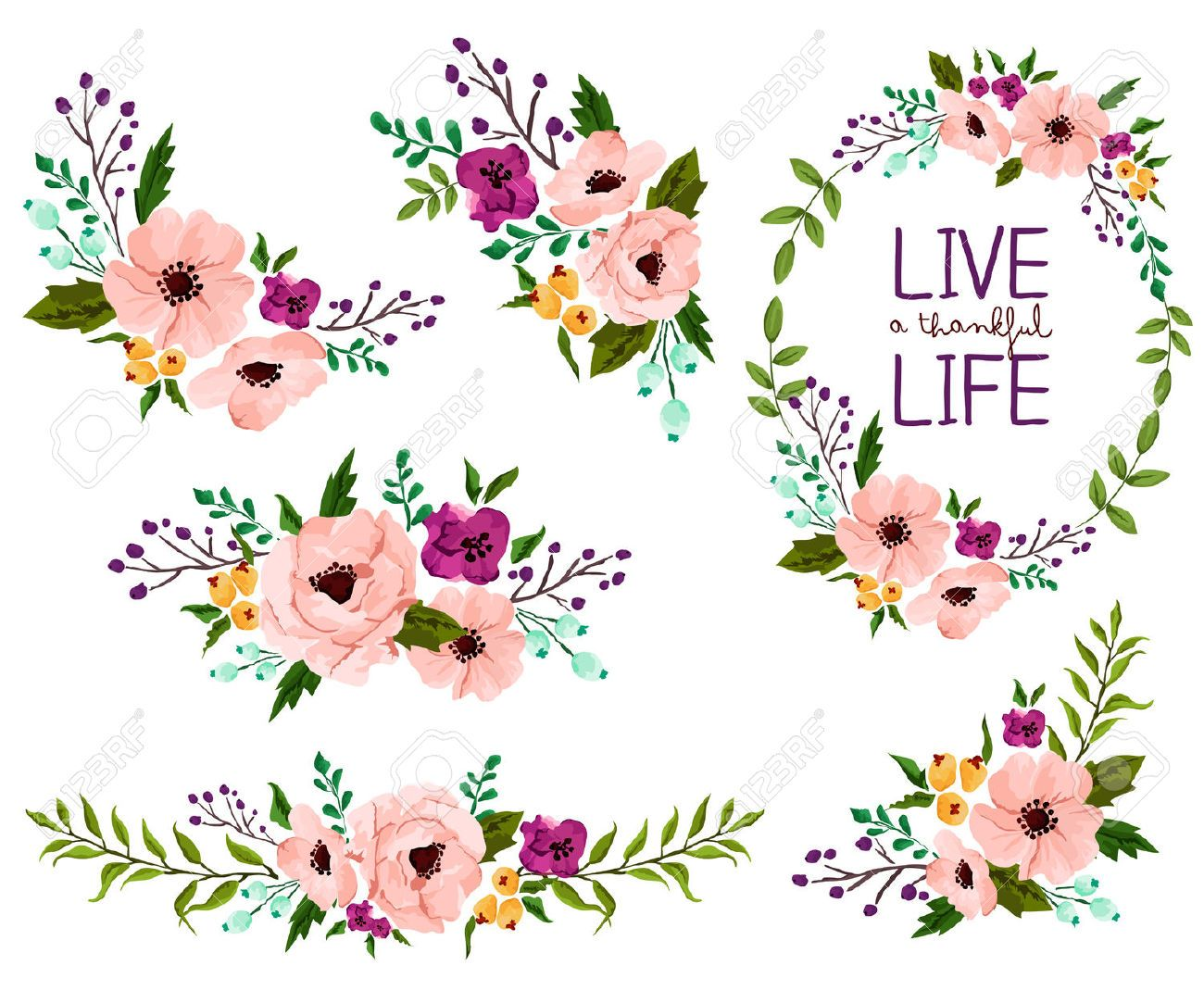 Image result for free watercolor flowers vector
