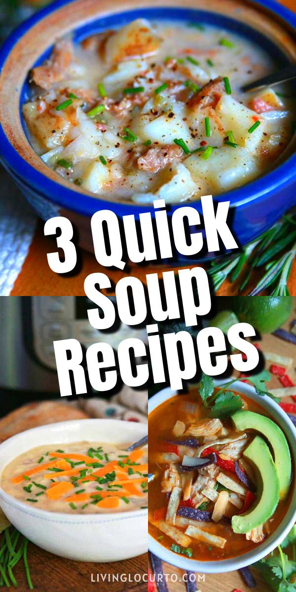 3 quick soup recipes in 2020  quick soup recipes soup