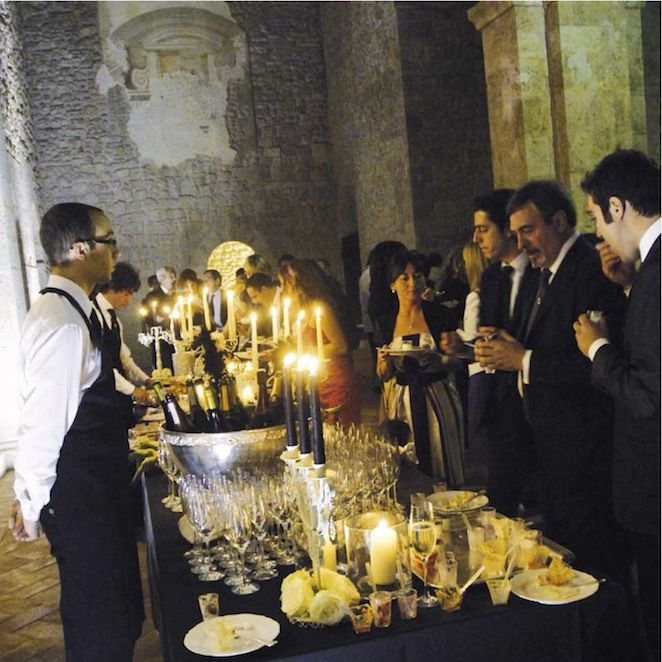 umbria wedding table settings, buffet dell'aperitivo