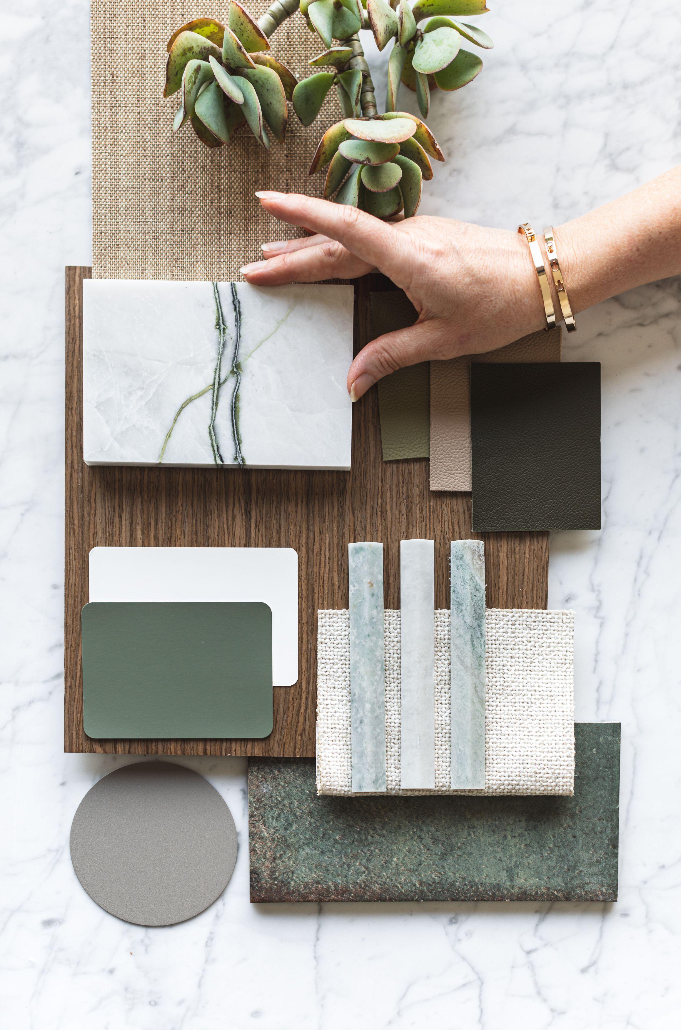 Calacatta Verde Marble|Forest Green Palette Flat L