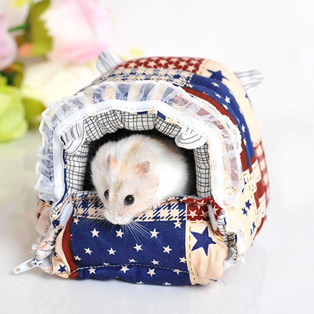 Jocestyle Small Animal Hedgehog Pet Hamster Mat Cage House