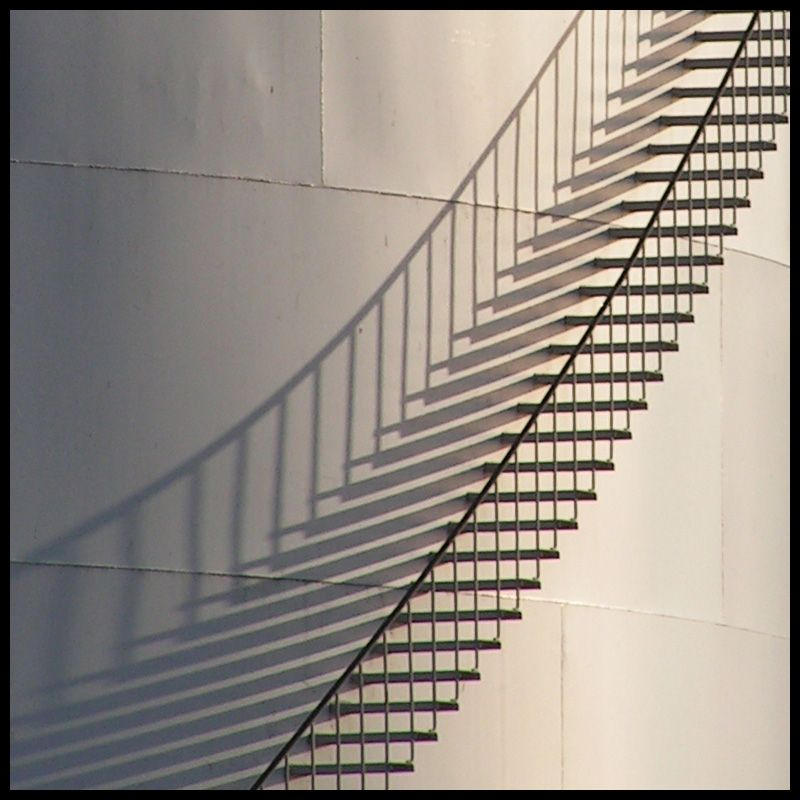 Shadow Gap Staircase Lighting: Stairs, Line Photography