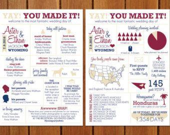 info graphic wedding program by bisforbrown on etsy smit wedding