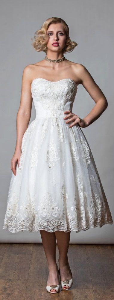 Rita Mae Tea Length Wedding Dress 2017 | Vintage Wedding | Pinterest