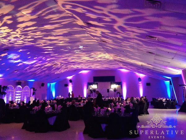 Texture Lighting And Blue Purple Uplighting