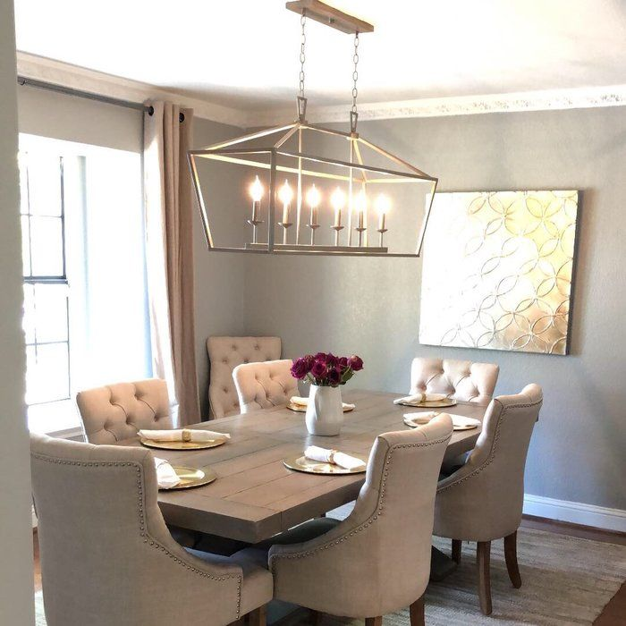 Carmen 6 Light Kitchen Island Linear Pendant In 2020 Dining Room Table Decor Dinning Room Decor Dining Room Decor