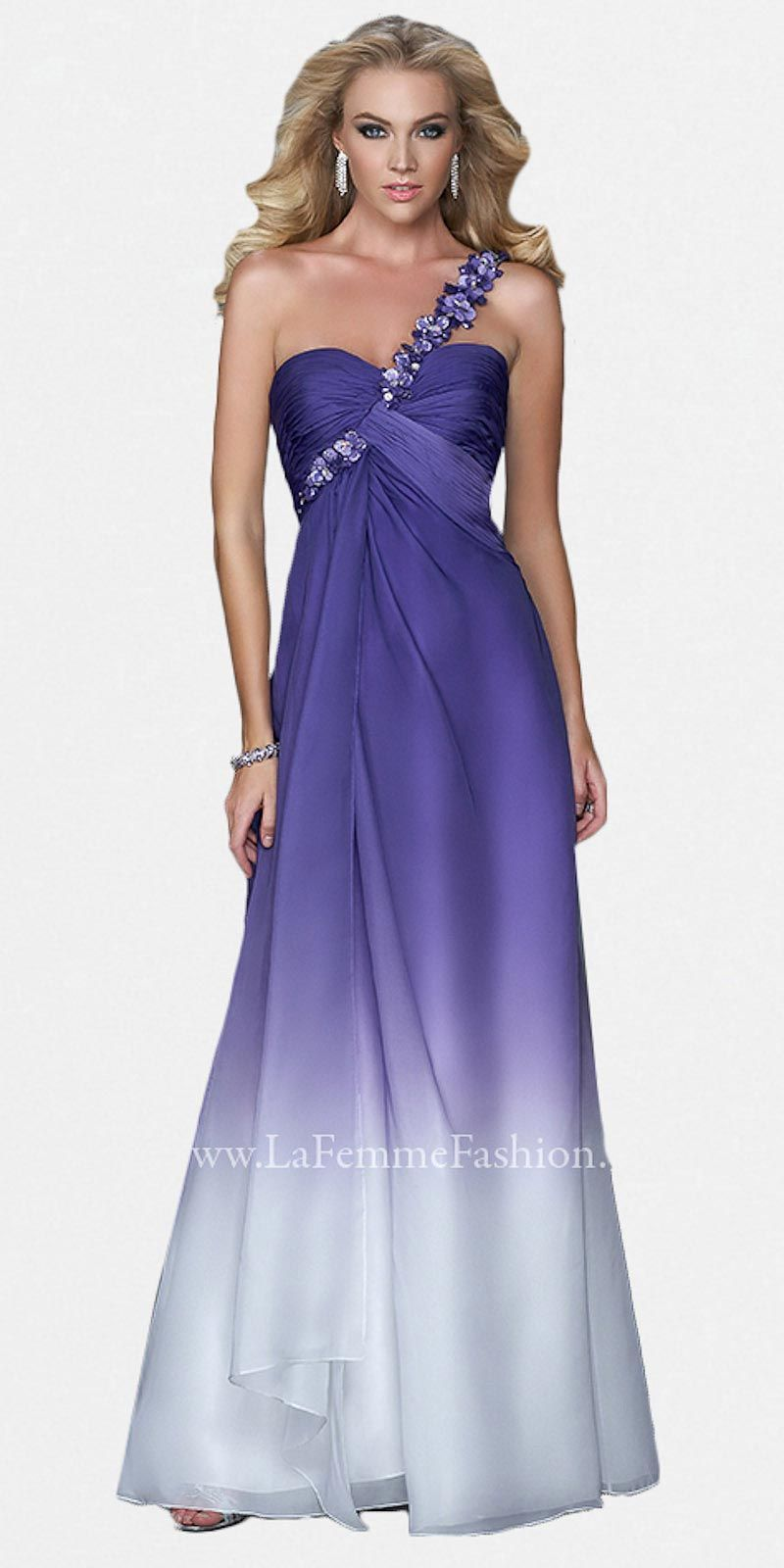 $358 Purple to white gown edressme.com | Purple gowns, dresses, n ...