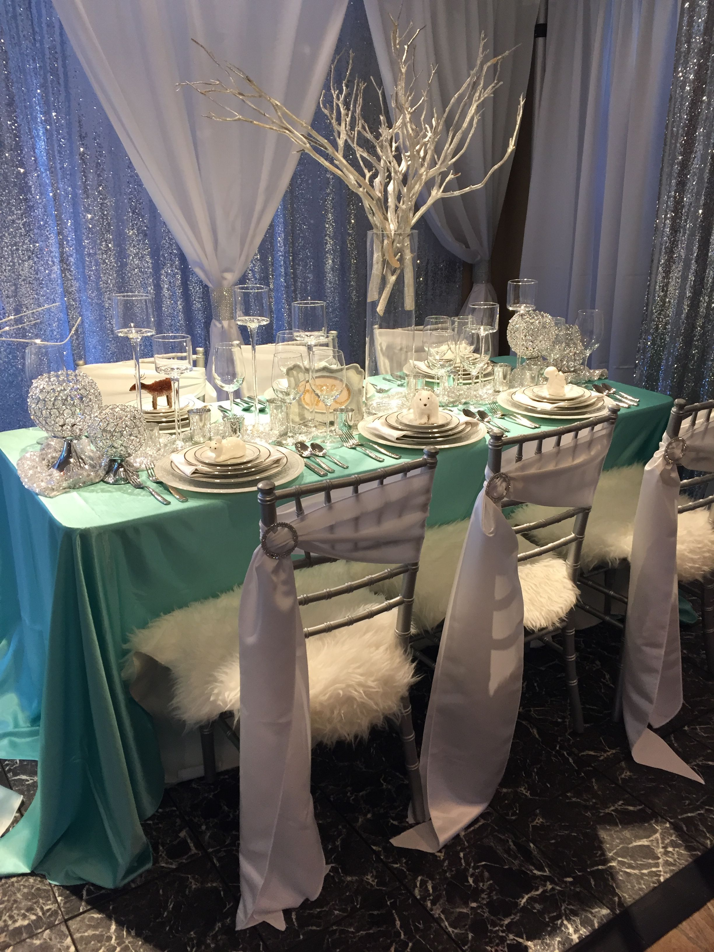 Wedding decorations garden december 2018 Our icedistrictinspired wedding table at SEREvents showcase of