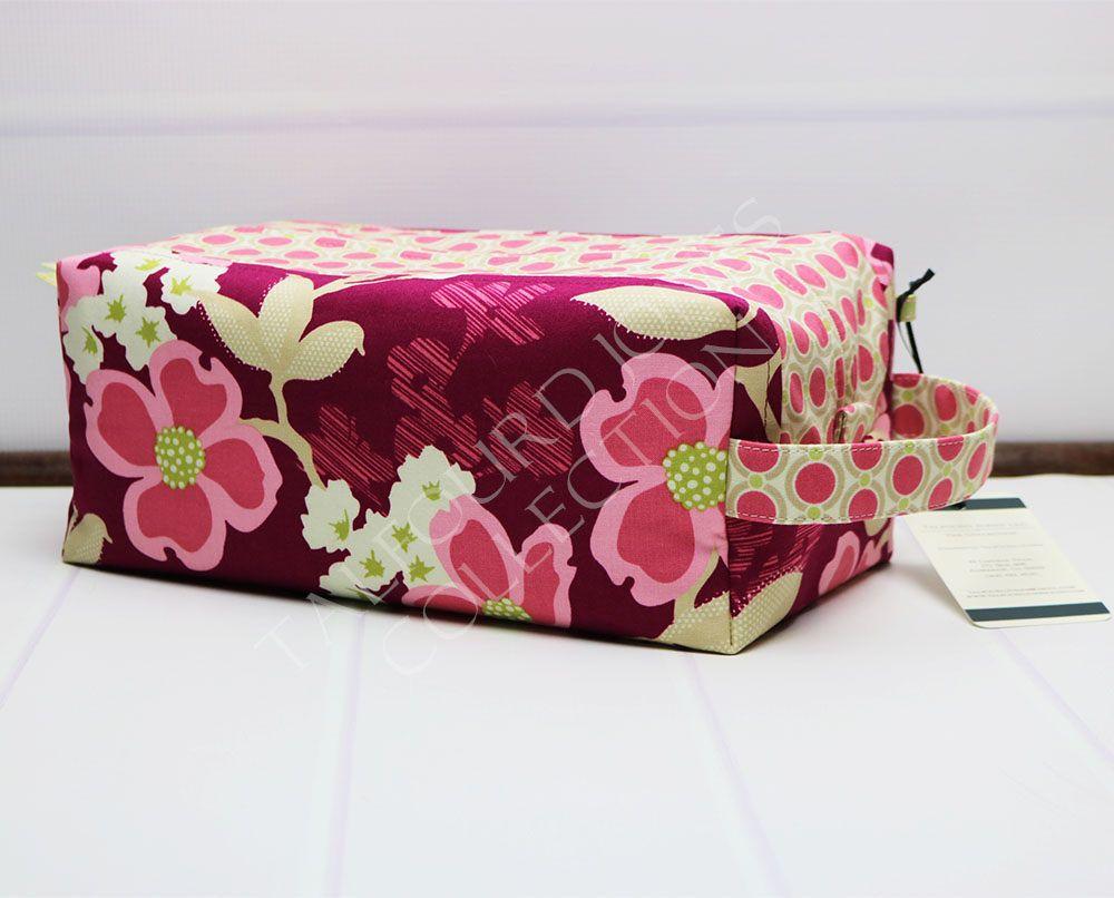 5890e4e3b1 Womens Wash Bag - Large Toilet Bag - Pink Toiletry Bag - Floral Box Pouch -  Makeup Storage Box - Knitting Project Bag - Joel Dewberry by TalfourdJones  on ...