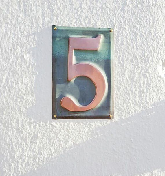 Housewarming Gift Large Metal House Number 6 150mm