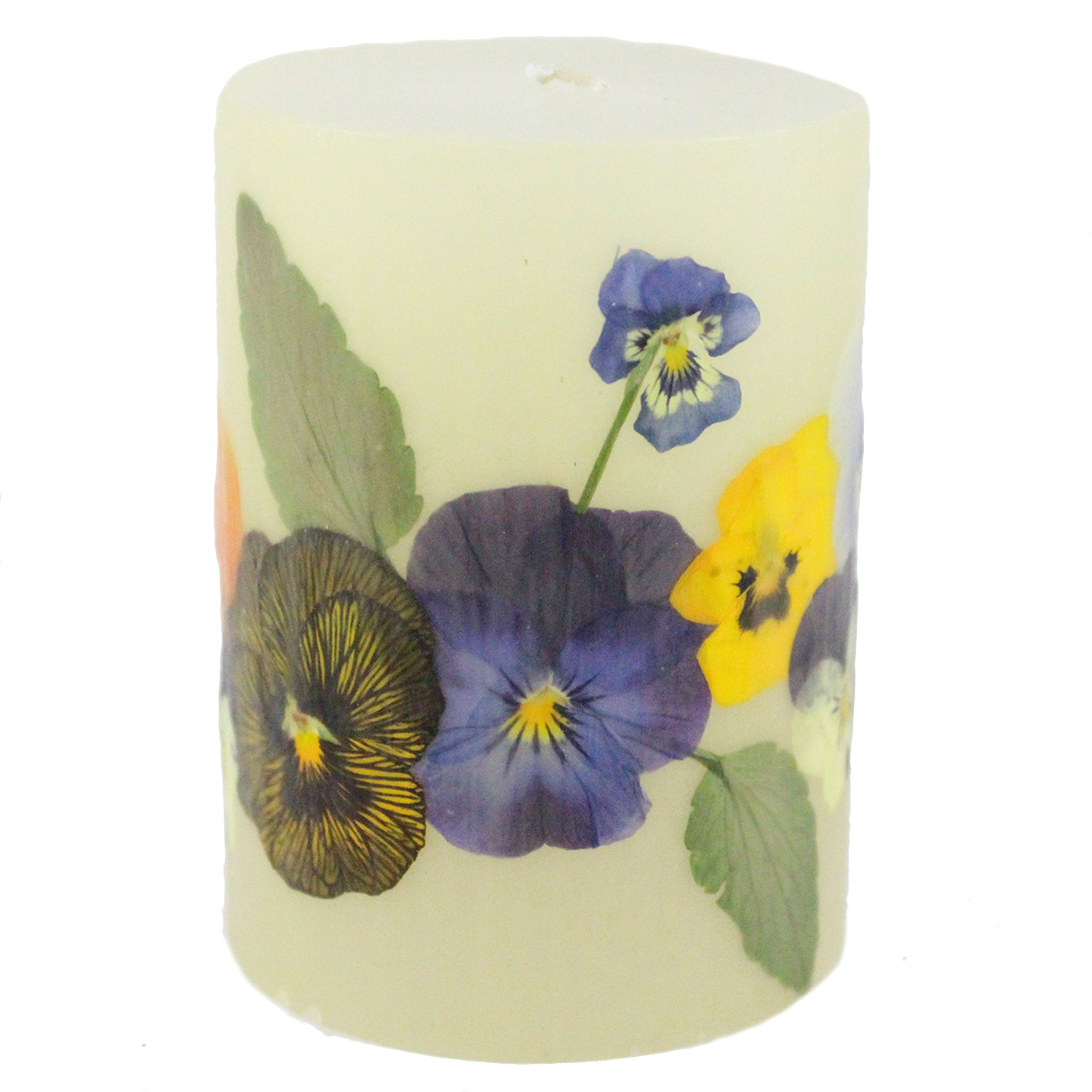 Pure beeswax pillar candles made in the usa with real pressed