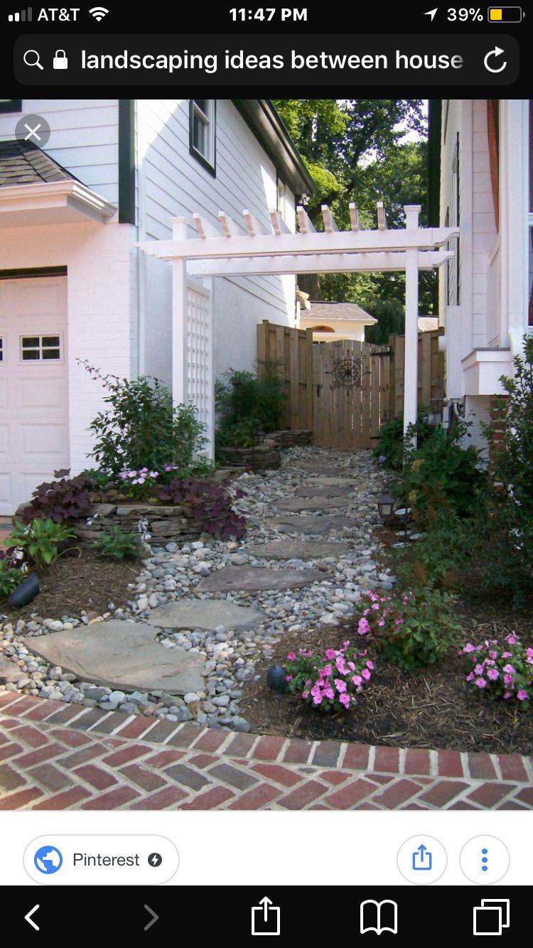 Pin by Sondra Zeman on Curb appeal | Side yard landscaping ... on Side Yard Pergola Ideas id=31197