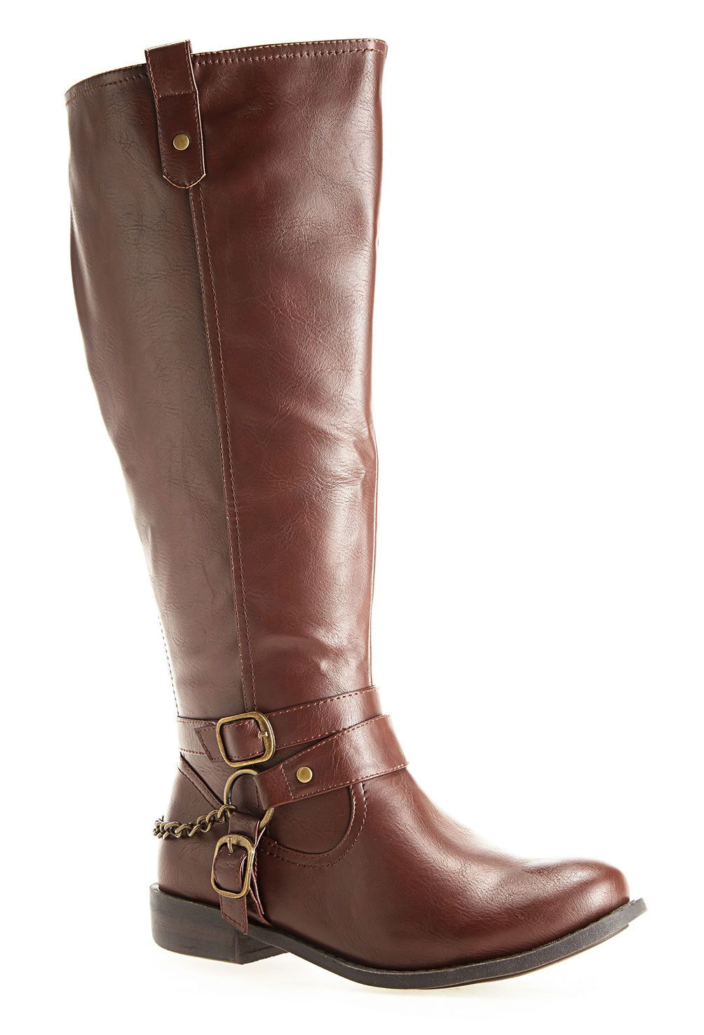 6e3409563bc Savannah Chain Tall Riding Boot-Extra Wide Width Boot-Avenue