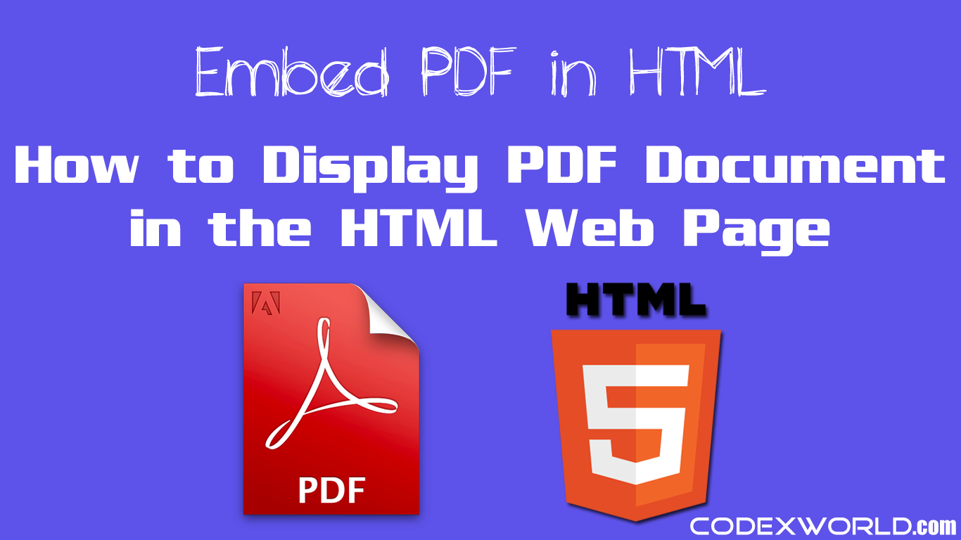 How To Embed Pdf Document In Html Web Page Website Creation Web Development Tutorial Embedding