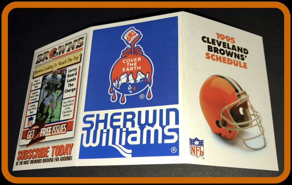 1995 cleveland browns sherwin williams football pocket