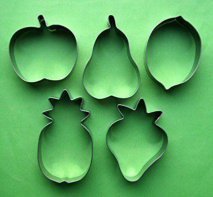 frutta ananas fragola pera mela limone biscotti in acciaio INOX cottura Mold set