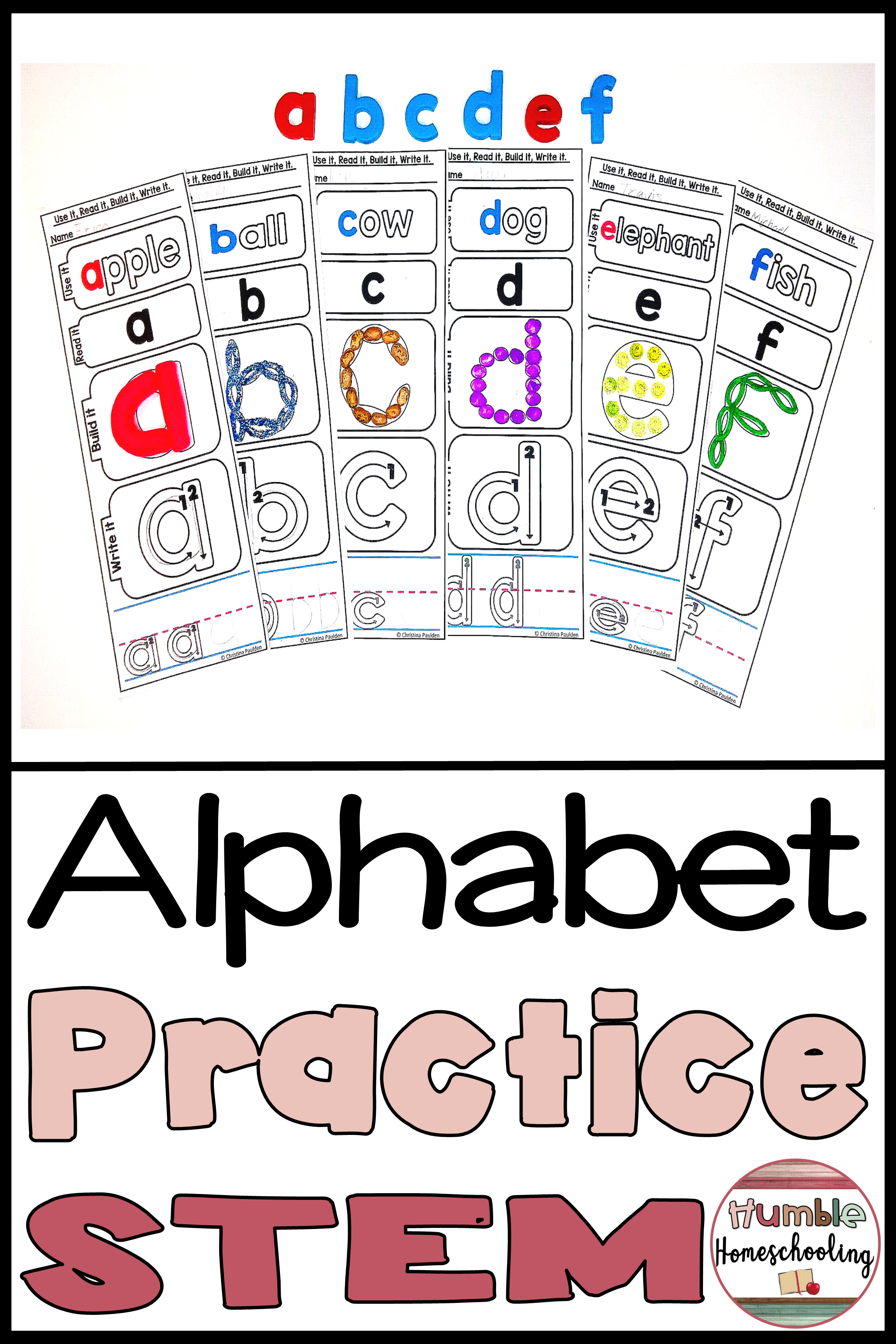 Back To School Alphabet Mats Lowercase