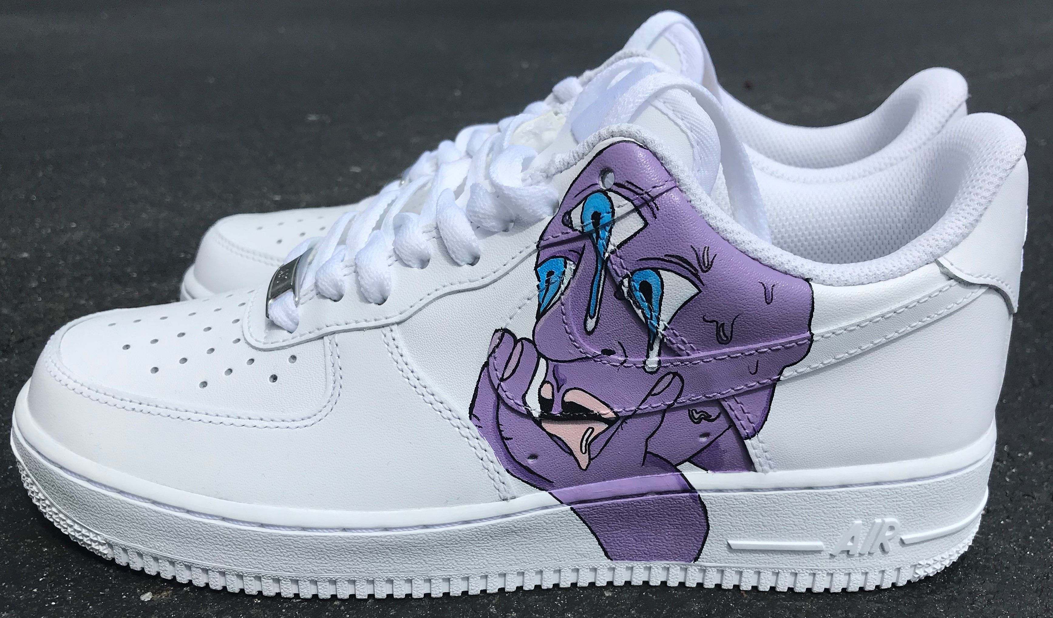 f67da836d53b05 Purple Drippy Psychedelic Third Eye air force one shoes. Custom sneakers  hand painted by me with angelus acrylic leather paint.