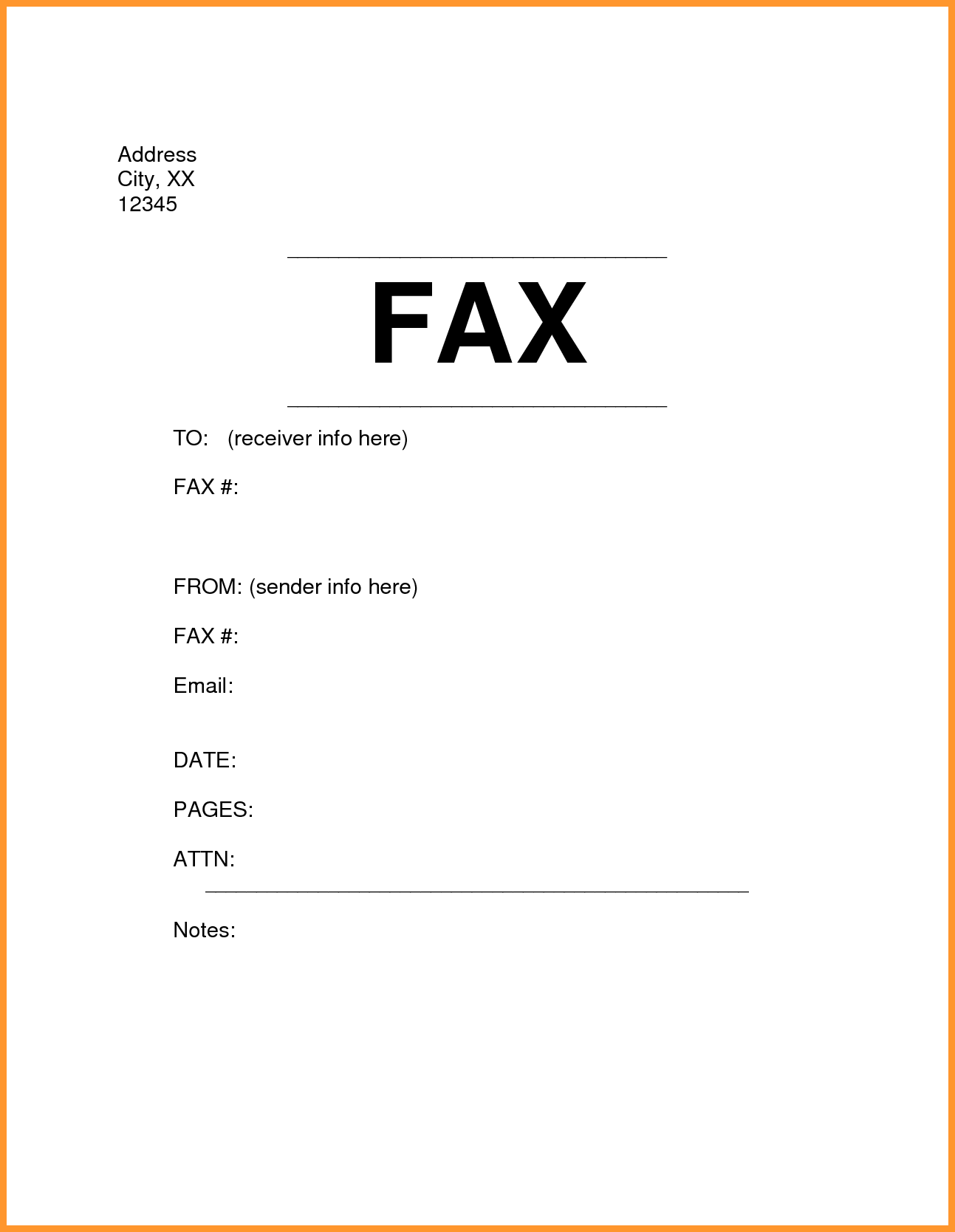 Facsimile Cover Sheet Template Word Maintenance Mechanic Sample