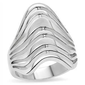Free Art Style No Stone Wide Band 316 Stainless Steel Lady Ring Size 8
