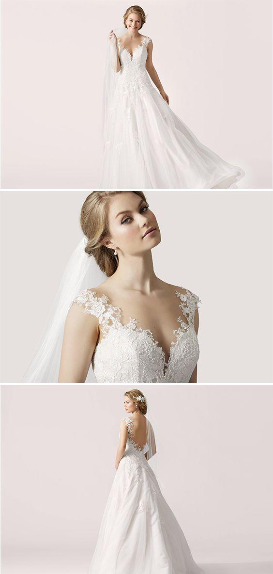 Feminine Silhouetten, leichte fließende Brautkleider mit ...