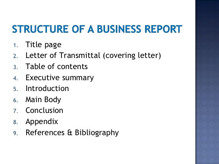 business report writing gallery images for executive summary - How To Format A Business Report
