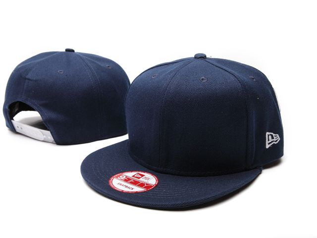 wholesale snapbacks hats Vintage New Era Blank Plain Snapback Hats Navy  Adjustable Caps ID 0694 b62562c4877
