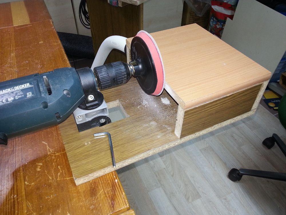 tellerschleifer mit bohrmaschine bauanleitung zum selber. Black Bedroom Furniture Sets. Home Design Ideas