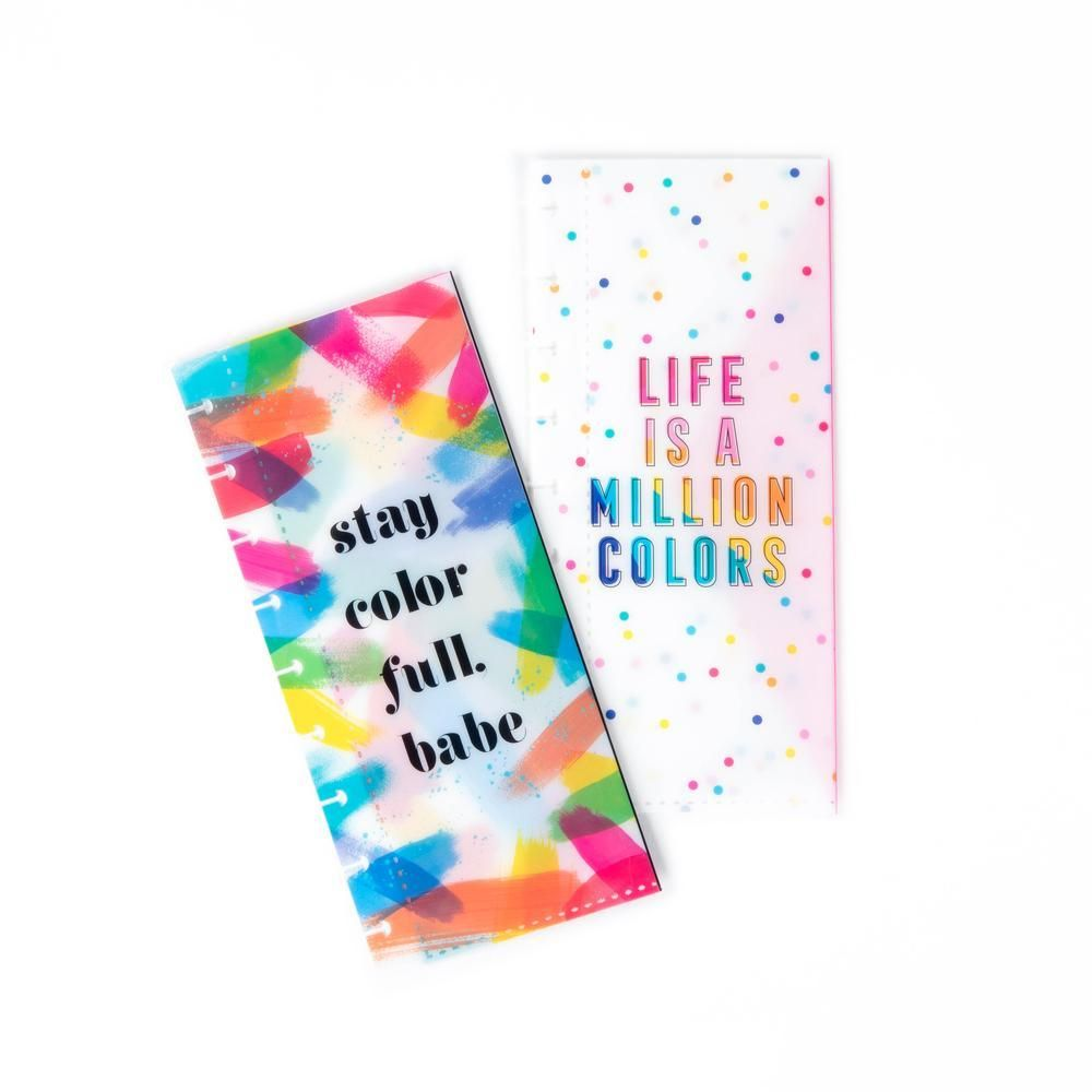 Rainbow Classic Snap In Planner Envelopes | Planners | The Happy Planner | Me & My Big Ideas