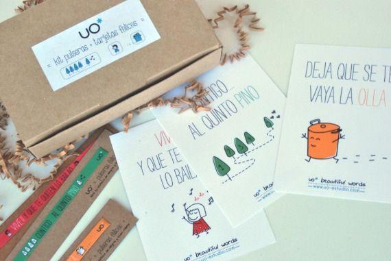 Me chiflan!!! kit pulseras + frases felices / la tienda de UO - Artesanio