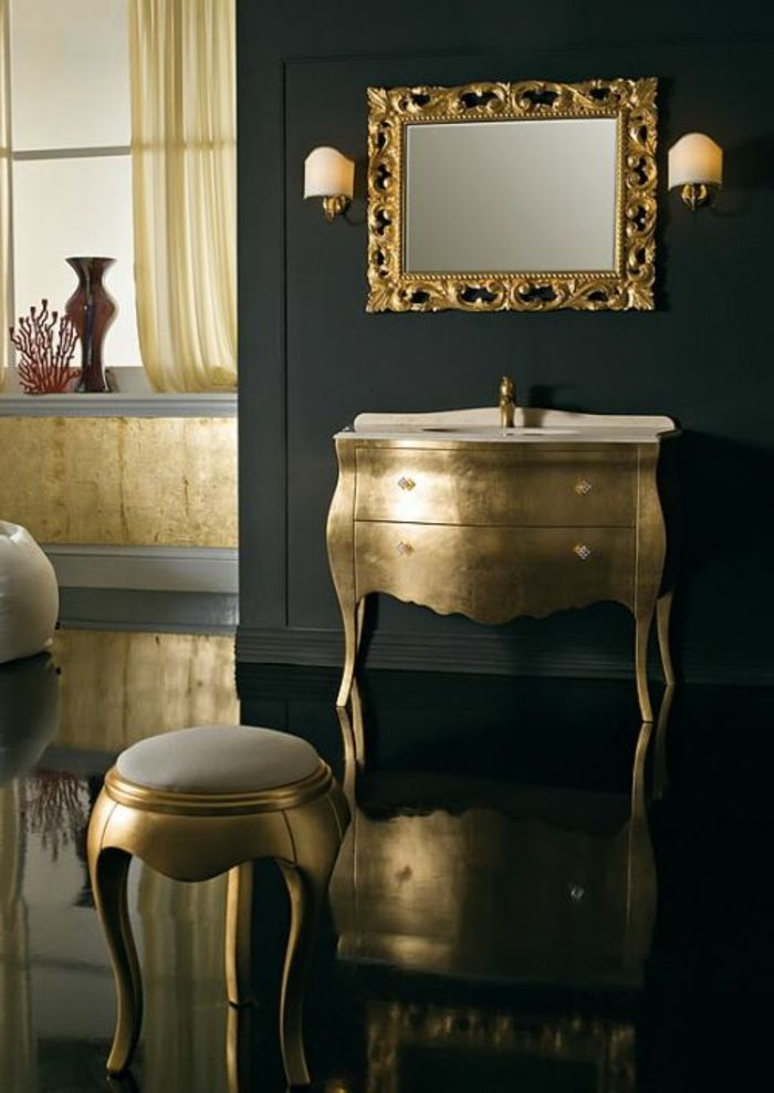 Kommode schwarz barock  goldene-Barock-Kommode-Hocker-Spiegel-Leuchten-golden-schwarz ...